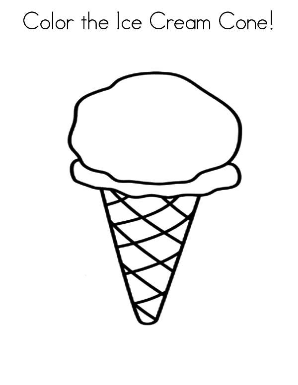 Color The Ice Cream Cone Coloring Pages