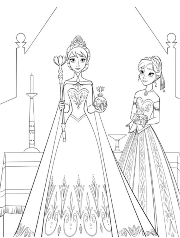 Coloring Page Free Frozen Disney