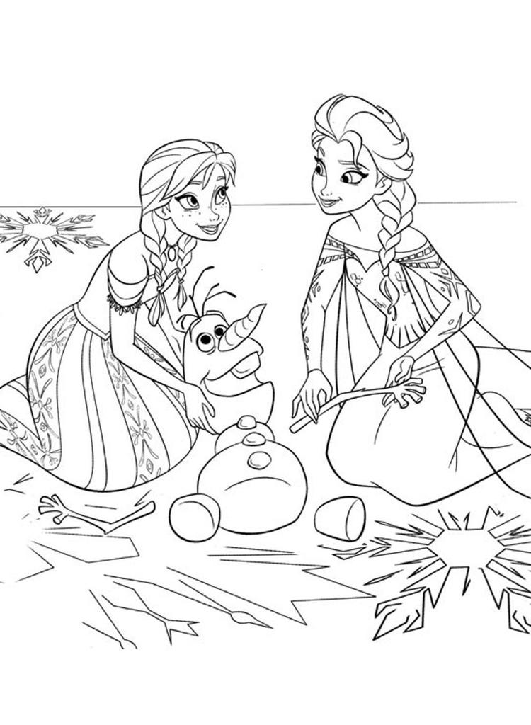 Coloring Page Frozen Sister