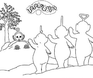 Coloring page teletubbies 02