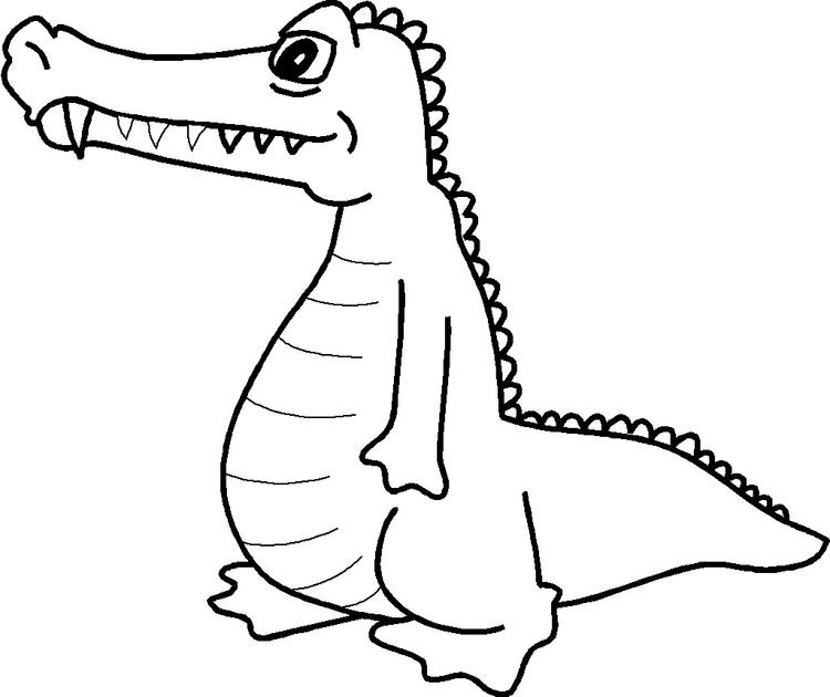 Coloring Pages Alligator Print Out