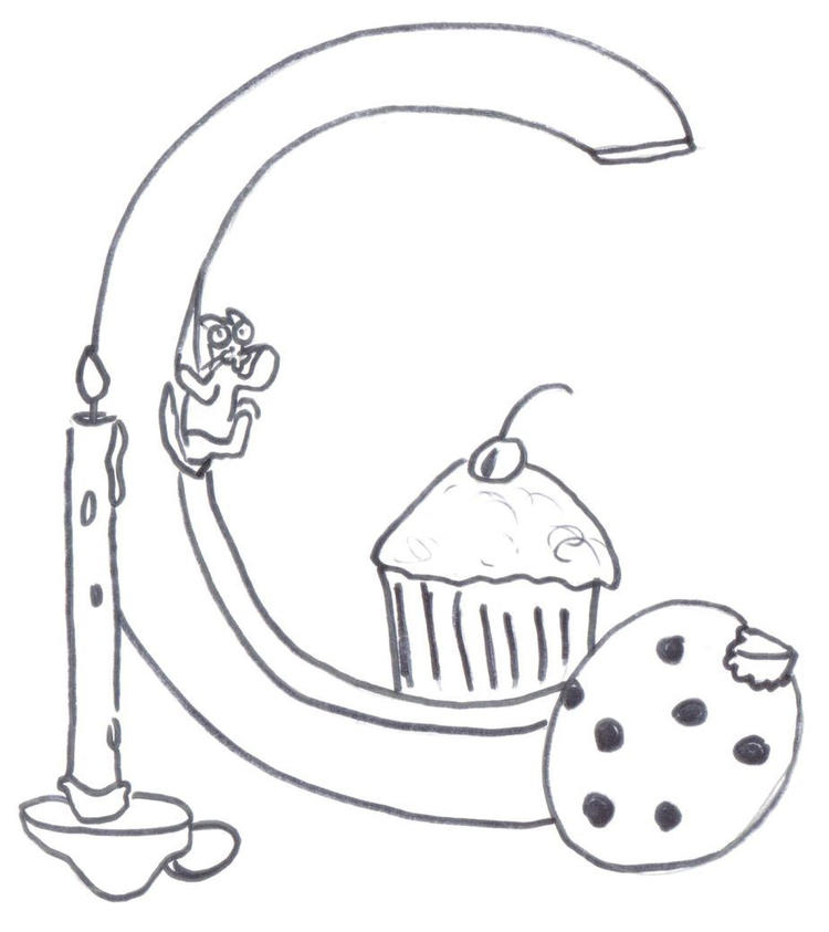 Coloring Pages Alphabet C Free
