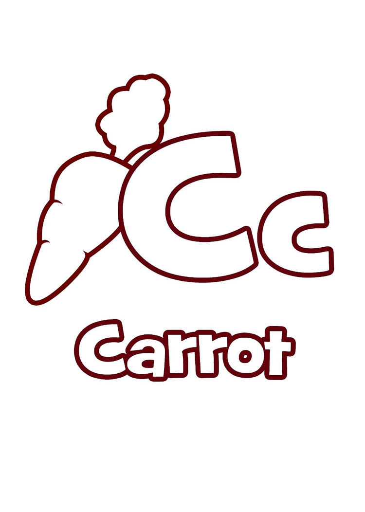 Coloring Pages Alphabet C Is For Carrots