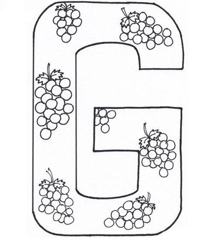 Coloring Pages Alphabet Fruits