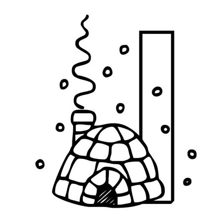 Coloring Pages Alphabet I For Igloo