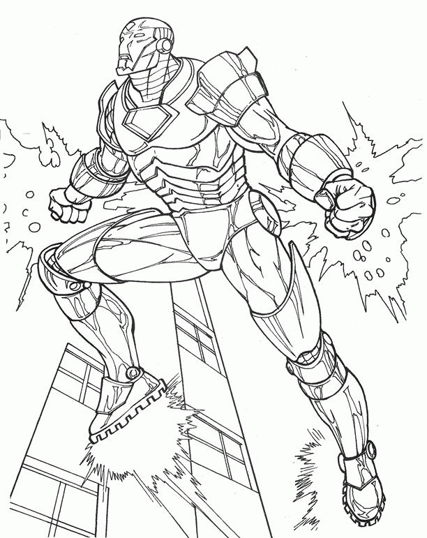 Coloring Pages And Iron Man