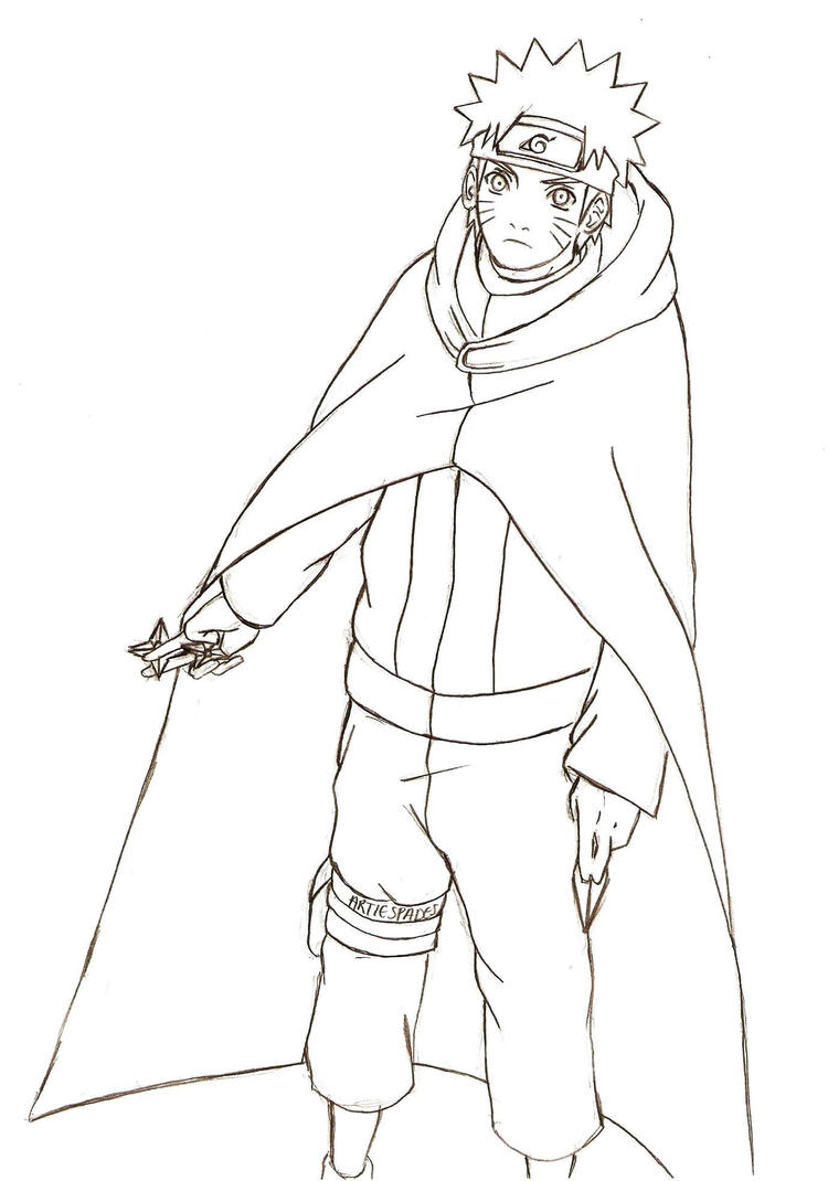 Coloring Pages Anime Naruto Shippuden