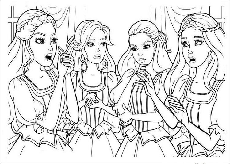 Coloring Pages Barbie And The Three Musketeers