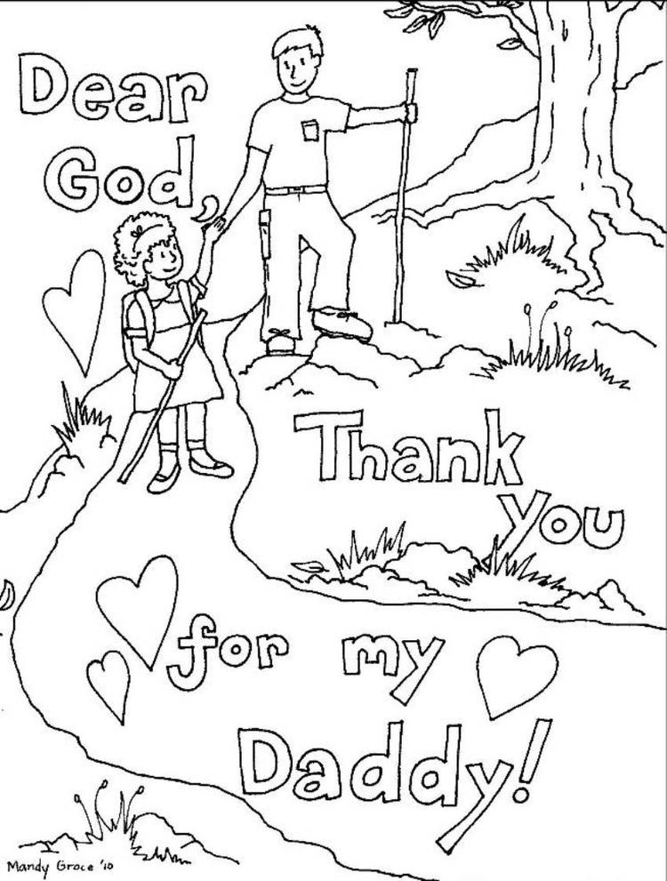 Coloring Pages Fathers Day Cards