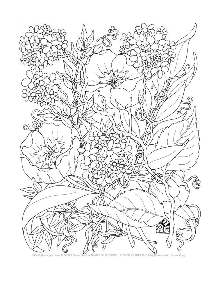 Coloring Pages For Adults Abstract Flowers 4