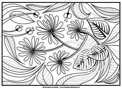 Coloring Pages For Adults Abstract Flowers Printable