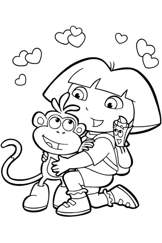 Coloring Pages For Girls Dora And Friends