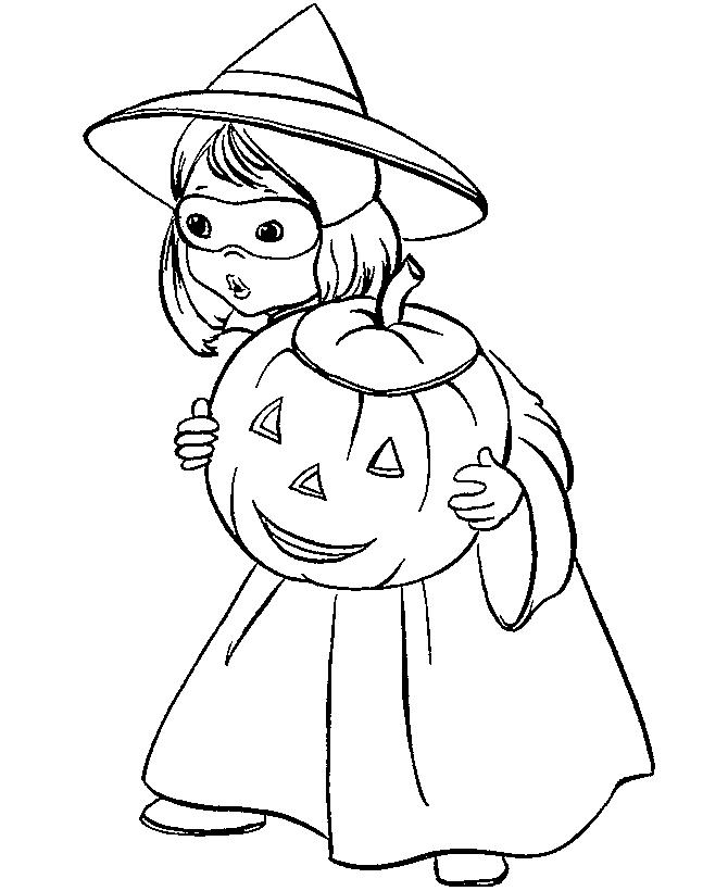 Coloring Pages For Girls Halloween Kid