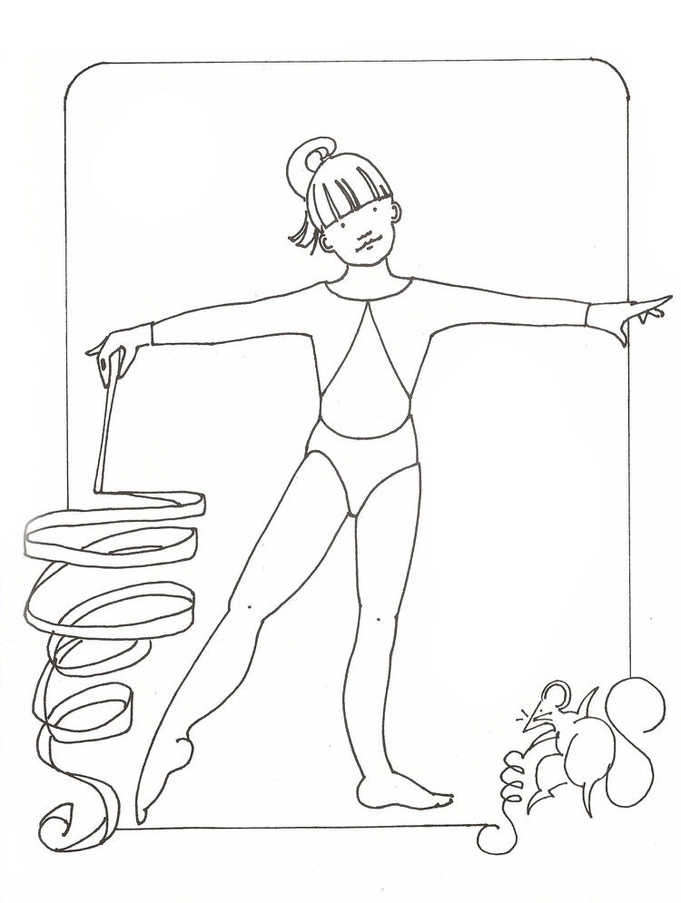 Coloring Pages For Kids Gymnastics Free