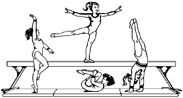 Coloring Pages For Kids Gymnastics Steps