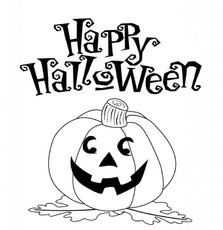 Coloring Pages For Kids Halloween Day