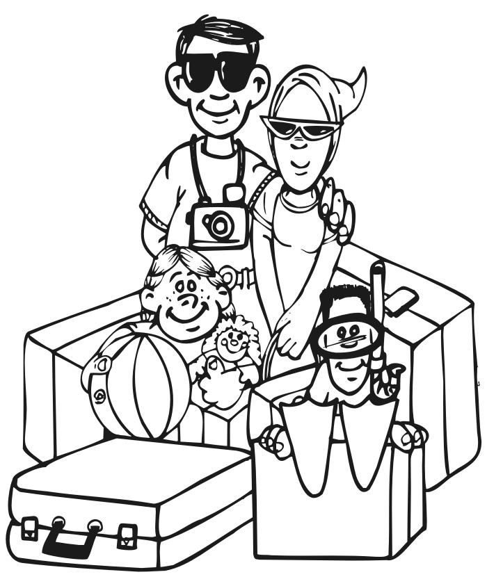Coloring Pages For Kids In The Summer Vacation