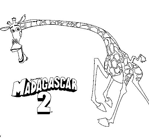 Coloring Pages For Kids Madagascar 2 Melman