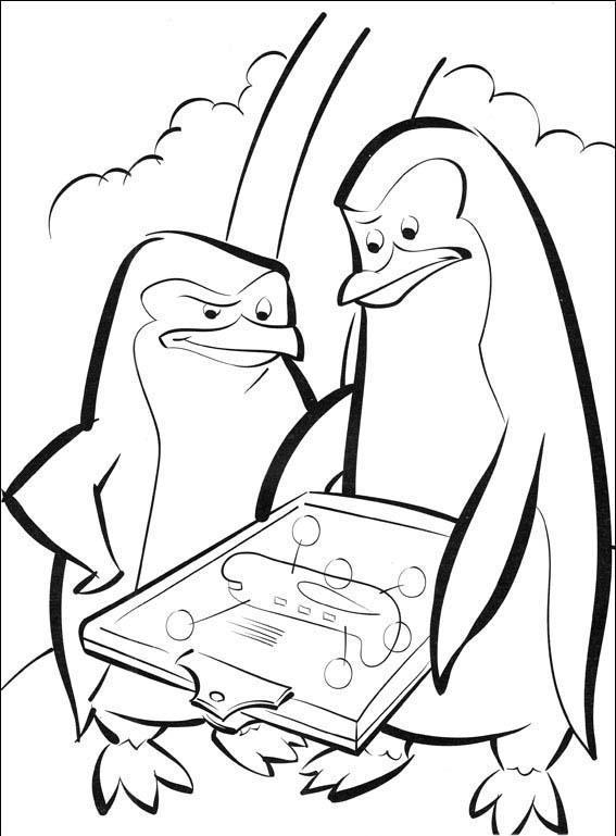 Coloring Pages For Kids Madagascar 2 Penguin