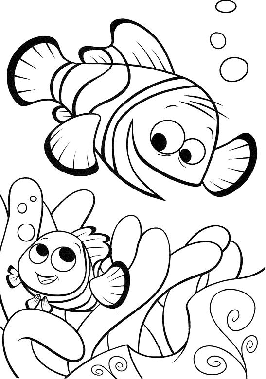 Coloring Pages For Kids Nemo Free