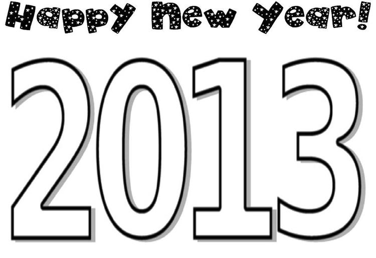 Coloring Pages For Kids New Year 2013