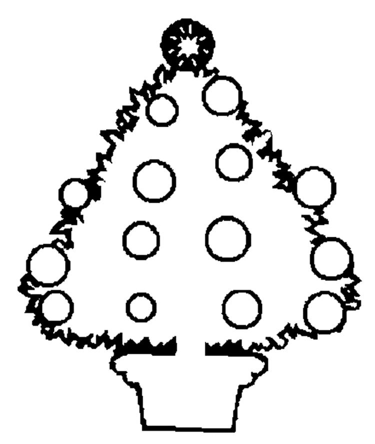Coloring Pages For Kids Printable Christmas Tree