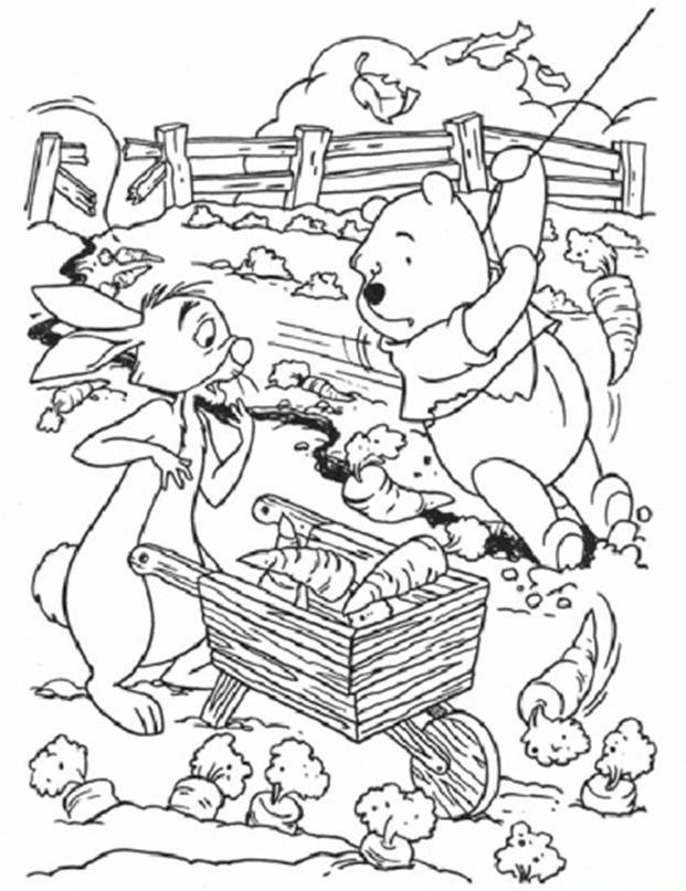 Coloring Pages For Kids Rabbit Winnie Pooh