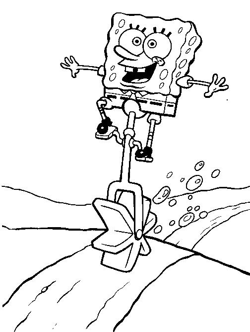 Coloring Pages For Kids Spongebob Printable