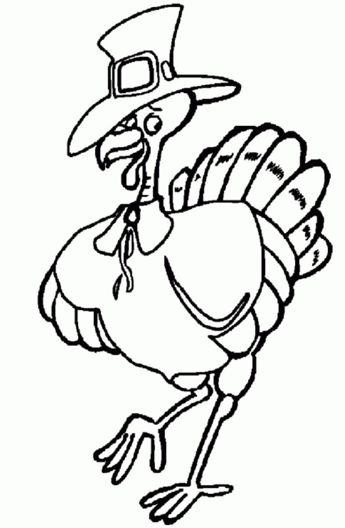 Coloring Pages For Kids Thanksgiving Free