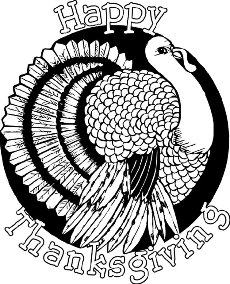 Coloring Pages For Kids Thanksgiving Turkey