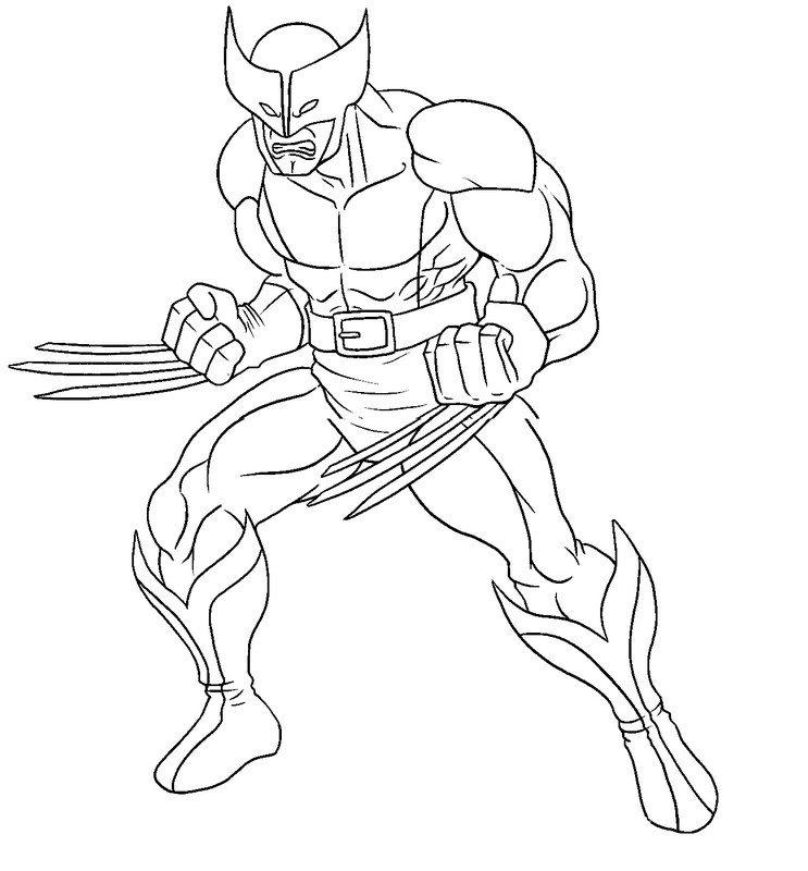 Coloring Pages For Kids Wolverine Angry
