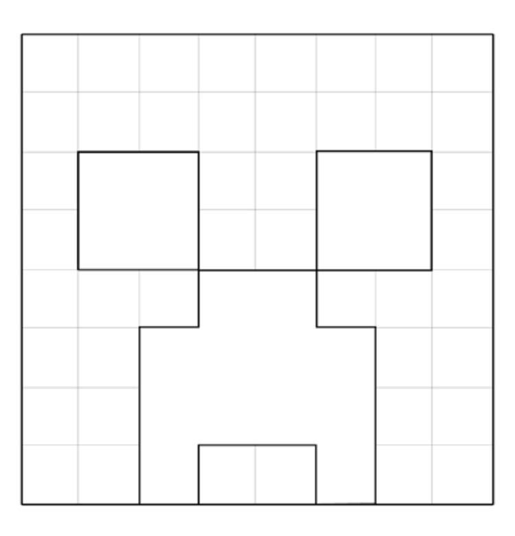 Coloring Pages For Minecraft Creeper Face