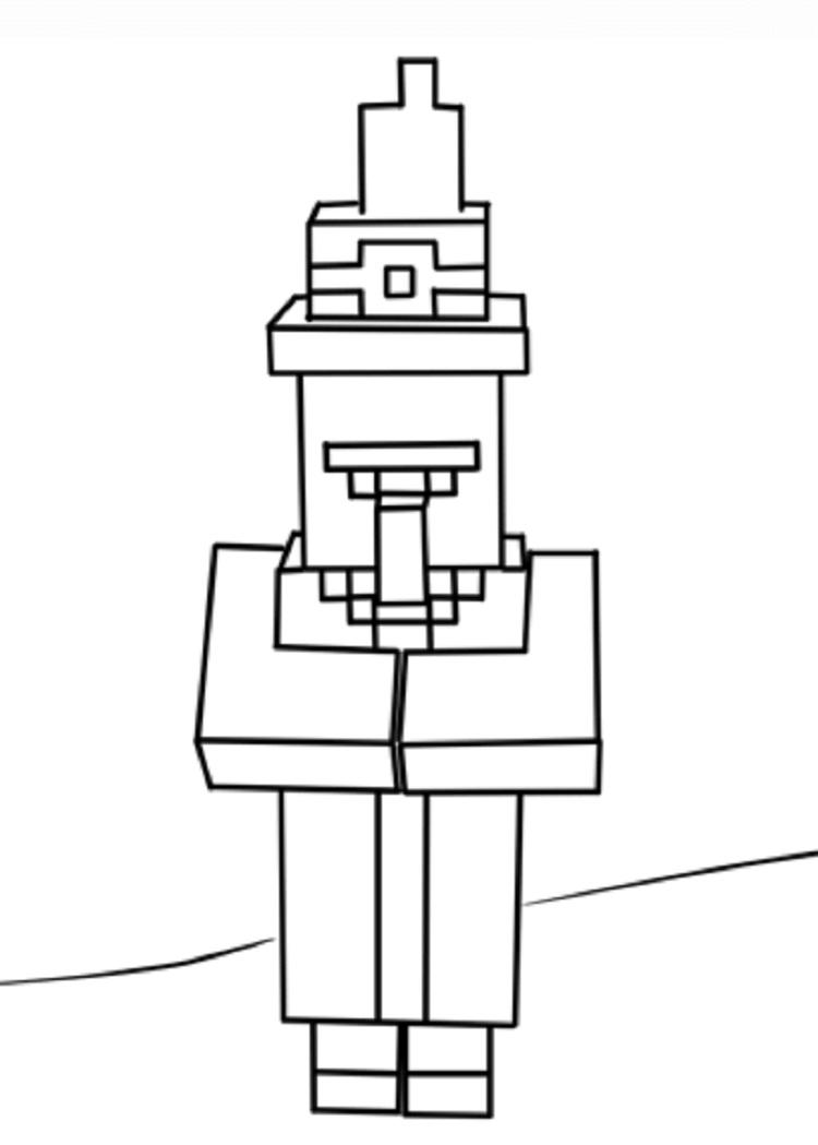 Coloring Pages For Minecraft Witch