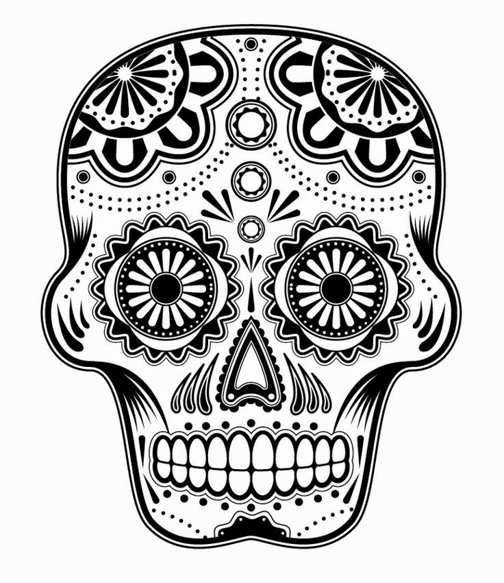 Coloring Pages For Teens Sugar Skull