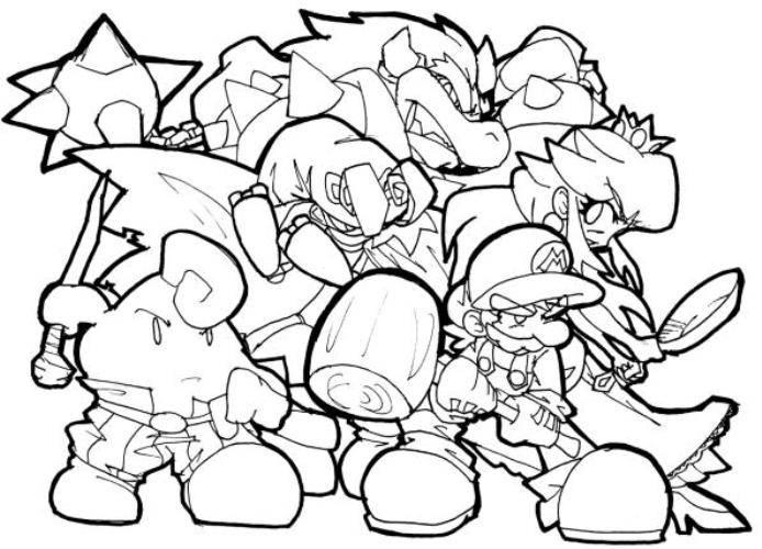 Coloring Pages New Super Mario Bros Wii