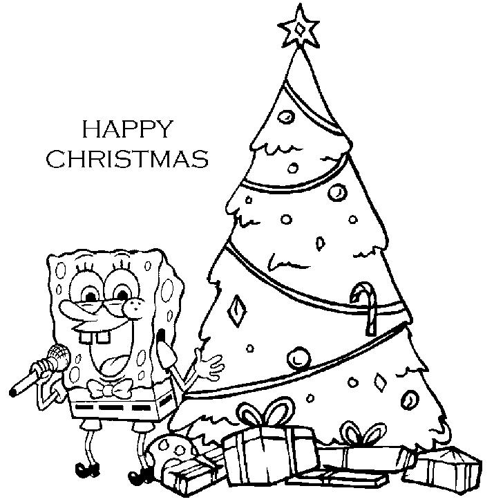 Coloring Pages Of Christmas Spongebob