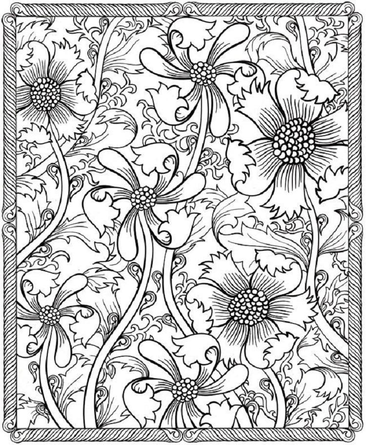 Coloring Pages Of Flower Designs