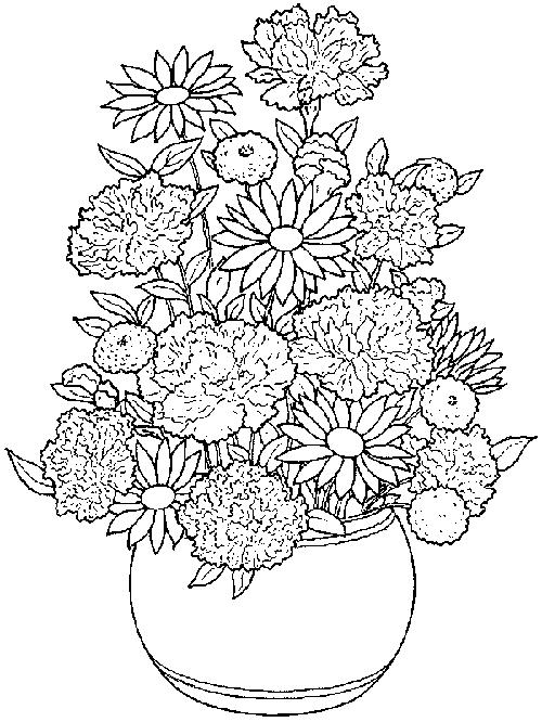 Coloring Pages Of Flower Pots