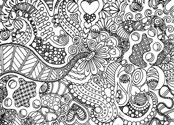 Coloring Pages Of Hearts For Teenagers Difficult For Print