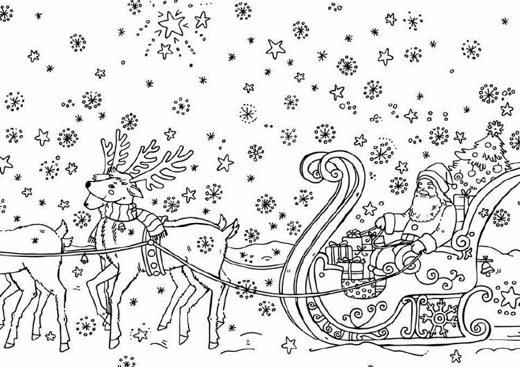 Coloring Pages Of Santa Claus And His Presents