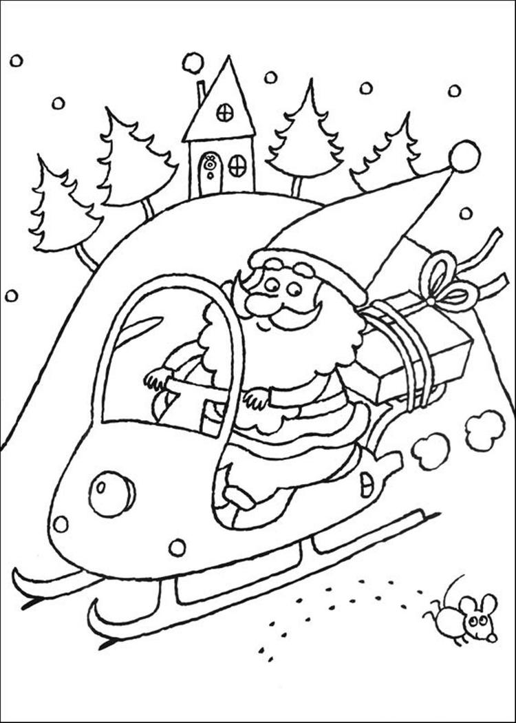 Coloring Pages Of Santa Claus Christmas New Year