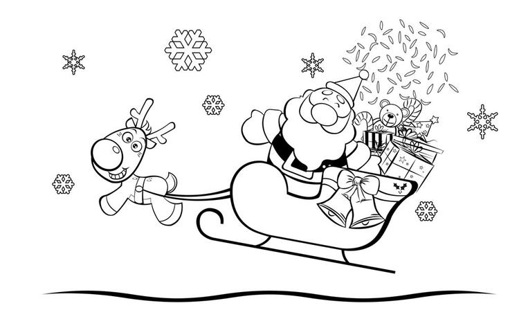 Coloring Pages Of Santa Claus For Children