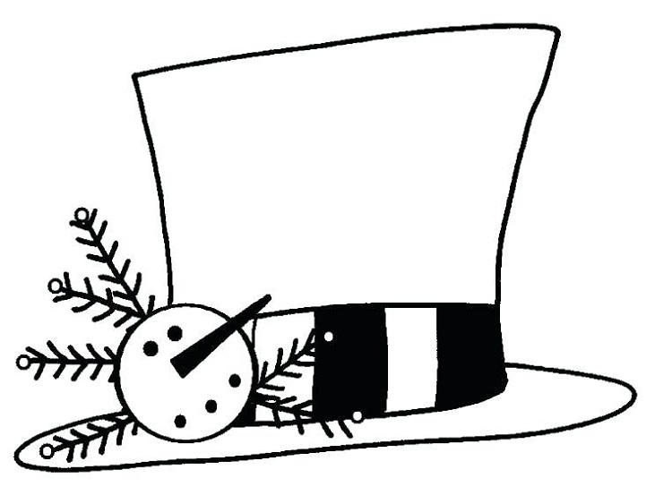 Coloring Pages Of Snowman Hats