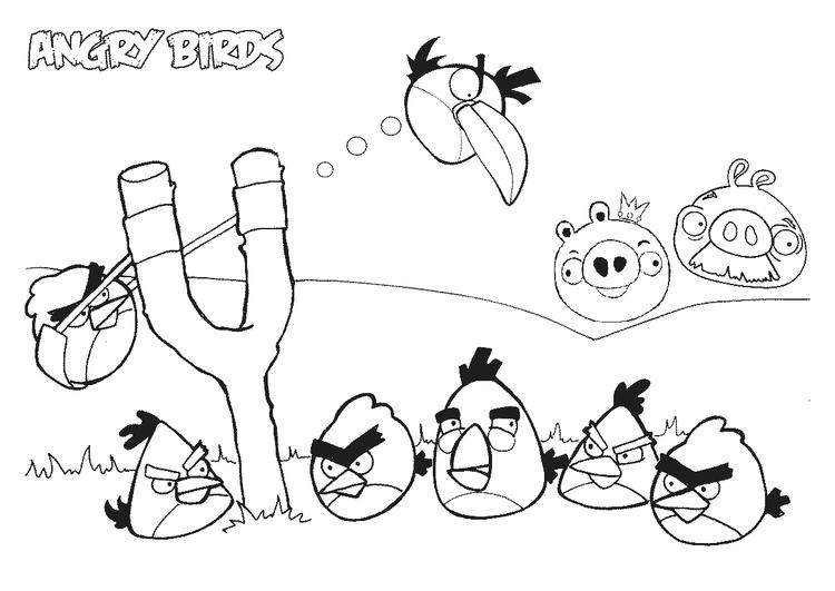 Coloring Pages Printable Angry Birds For Kids