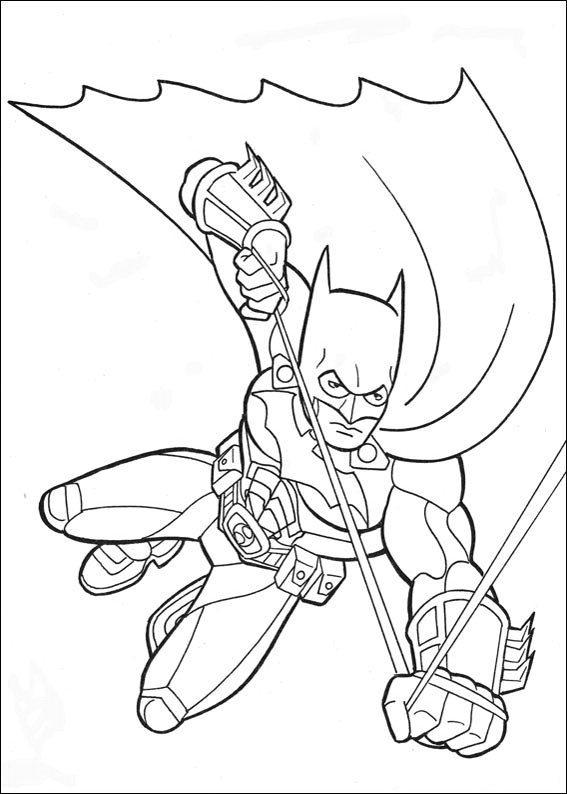 Coloring Pages Printable Batman Flying