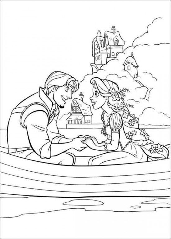 Coloring Pages Printable Tangled Cartoon