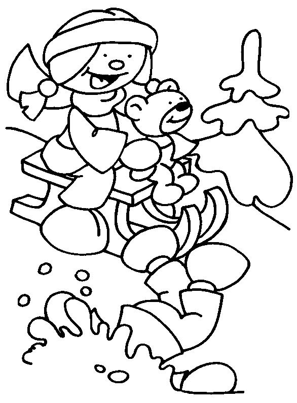 Coloring Pages Printable Winter Kids