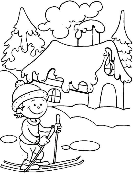 Coloring Pages Printable Winter Season - Coloring Ideas