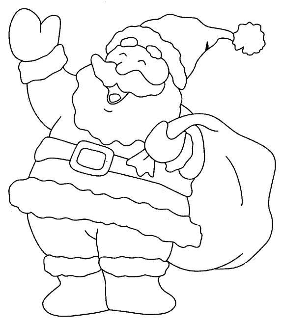 Coloring Pages Santa Clause Picture