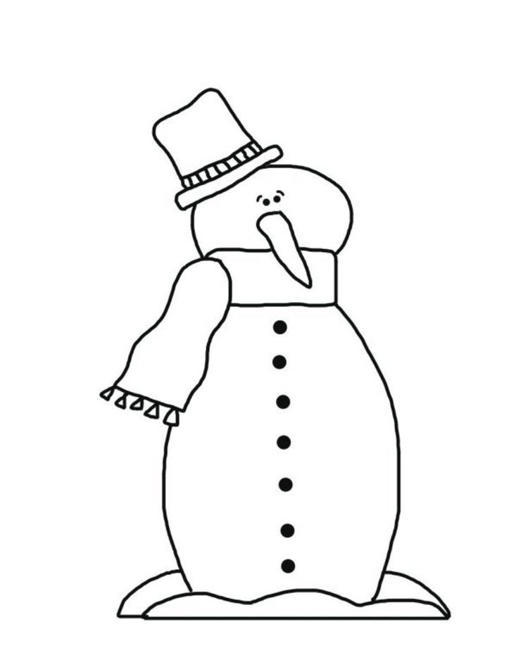 Coloring Pages Winter Guy Snowman